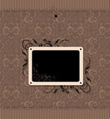 Vintage frame with seamless wallpaper — Stock Vector