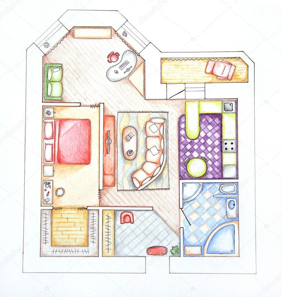 Схема квартиры на английском языке