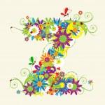 Letter Z, floral design. — Stock Vector #3233886
