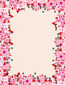 Floral frame with place for your text — Stock Vector