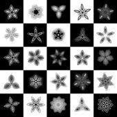 Set of design elements, flowers — Stock Vector