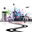 Cityscape background, urban art — Stockvectorbeeld
