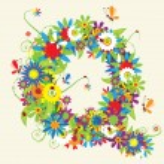 písmeno q, květinový design. Viz také písmena v mé galerii — Stock vektor