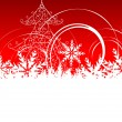 Christmas background with place for your text — Stock Vector