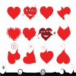 Vector de stock : 12 hearts of different shape
