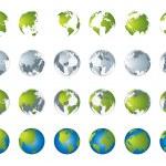 World map, 3D globe series — Stock Vector