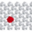 Your house amond others houses — Stock Vector