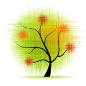 Hermoso árbol de arte — Vector de stock