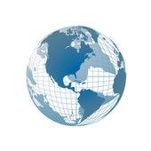 World map, 3D globe — Stock Vector