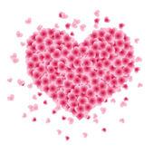 Tvar srdce z listí — Stock vektor