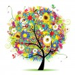 Floral tree beautiful, summer — Stock Vector #3606450