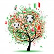 Football tree design, Mexican flag — Stock Vector