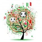 Football tree design, Mexican flag — Stock Vector #3606456