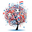 Royalty-Free Stock Vector Image: Football tree design