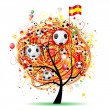 Royalty-Free Stock Vector Image: Football tree design, Spanish flag