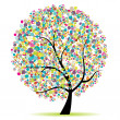 Art tree beautiful for your design — Stock Vector #3606462