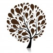 Stock Vector: Art tree beautiful for your design