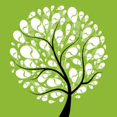Art tree beautiful for your design — Stock Vector