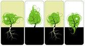 Diseño de banners para usted, árboles de arte — Vector de stock