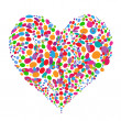 Funny colorful heart shape design — Stock Vector