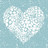 I like winter! snowing heart shape for your design — Stok Vektör