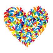 Floral heart shape design — Cтоковый вектор