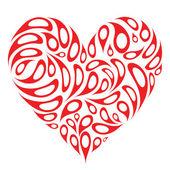 Design a forma di cuore — Vettoriale Stock