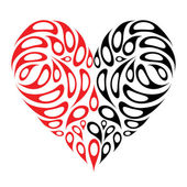 Heart shape design — Stock Vector