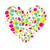 формы сердца с подсолнухами для вашего дизайна — Cтоковый вектор