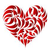 Diseño de la forma del corazón — Vector de stock