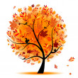 Royalty-Free Stock Vector Image: Beautiful autumn tree for your design