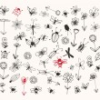 Insect sketch collection for your design — Vector de stock