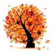 Beautiful autumn tree for your design — Stock Vector