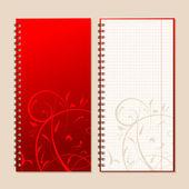 Laptop schutblad en bladzijde voor uw ontwerp — Stockvector