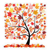Beautiful autumn tree for your design — Stok Vektör
