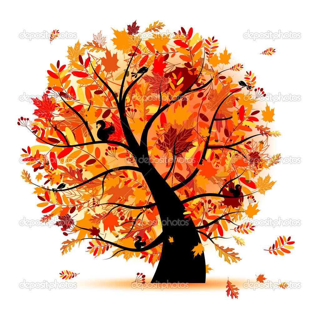Beautiful autumn tree for your design — Vettoriali Stock  #3847225