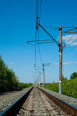 Railroad at noon — Stock Photo