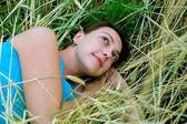 Sognando la ragazza — Foto Stock