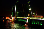 Drawbridge at night — Stock Photo