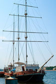 Staré plachetnice jachta — Stock fotografie