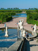 Fontein in peterhof paleis — Stockfoto