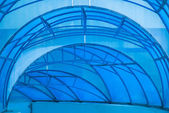 Blue canopy — Stock Photo