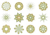 Elementos florais e ornamentais — Fotografia Stock
