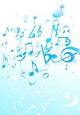 音乐抽象背景 — 图库照片