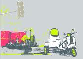 городской фон — Стоковое фото