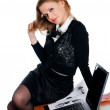 Charming young businesswoman - Stock Photo