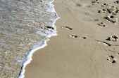 Imprint of human feet — Stockfoto