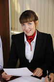 Young charming businesswoman — Stock Photo
