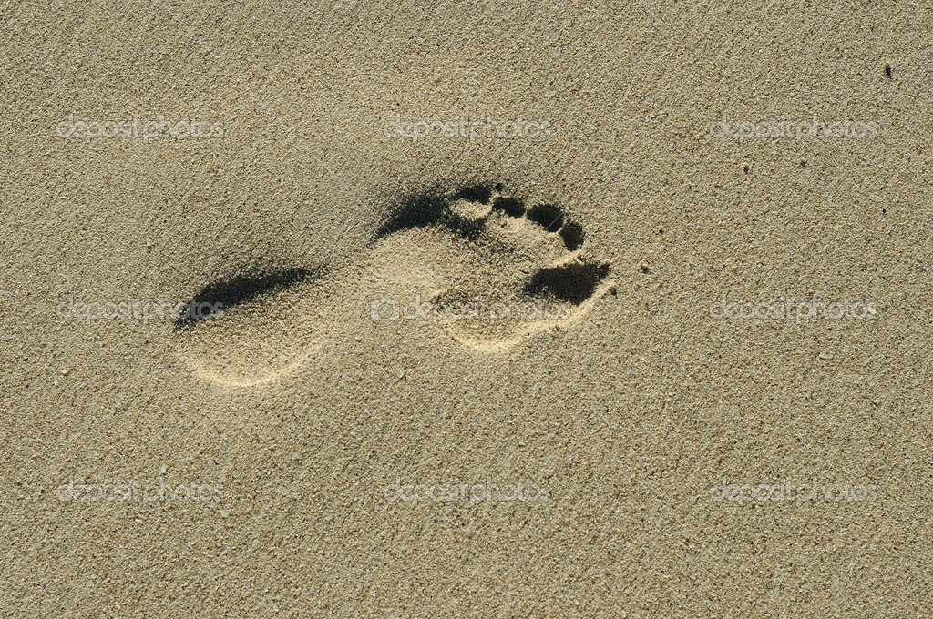 Footprint on the sand — Stock Photo #2813719