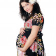 Charming young pregnant woman - Stock Photo